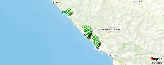 букмекерские конторы на карте Сочи