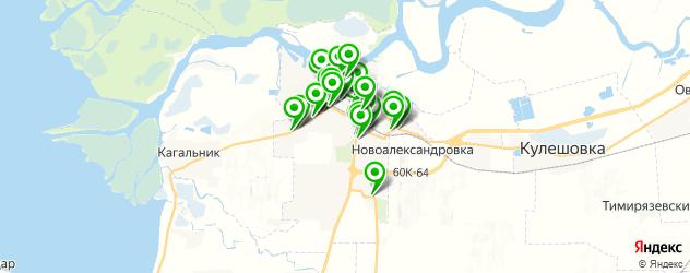 Авто на карте Азова