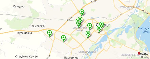 эвакуаторы на карте Липецка