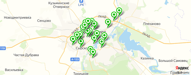 покраска авто на карте Липецка