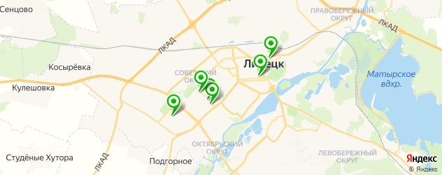 велнесы-клубы на карте Липецка