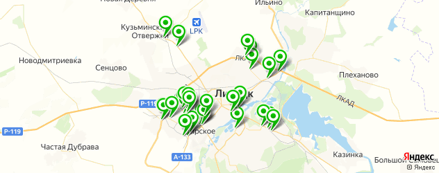АЗСЫ на карте Липецка