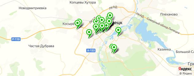 мастерские на карте Липецка
