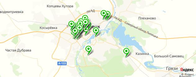 обувные мастерские на карте Липецка