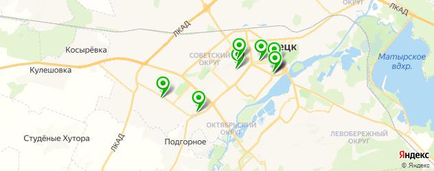 авторазборки на карте Липецка