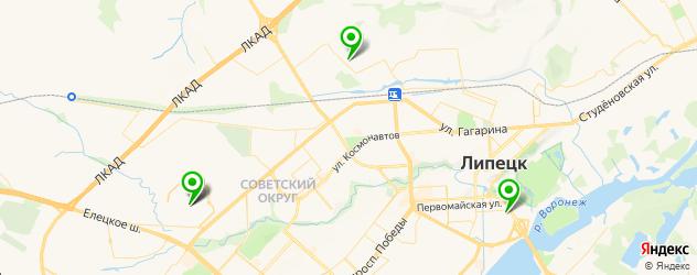 НИИ на карте Липецка