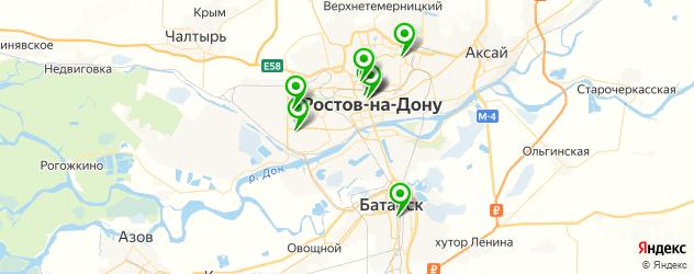фитнесы с бассейном на карте Ростова-на-Дону
