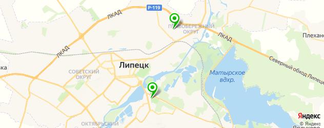 фитнесы с бассейном на карте Липецка