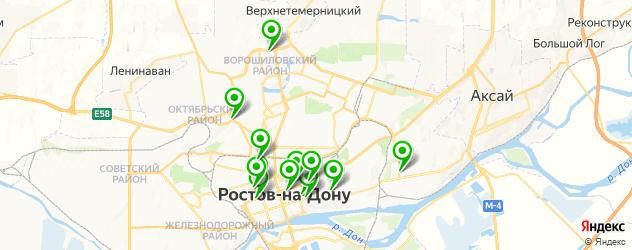 центры эстетической медицины на карте Ростова-на-Дону