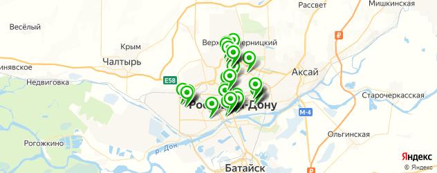 меховые ателье на карте Ростова-на-Дону