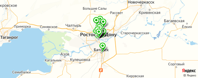 тату салон на карте Ростова-на-Дону