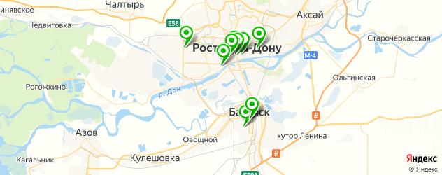 шаурма на карте Ростова-на-Дону
