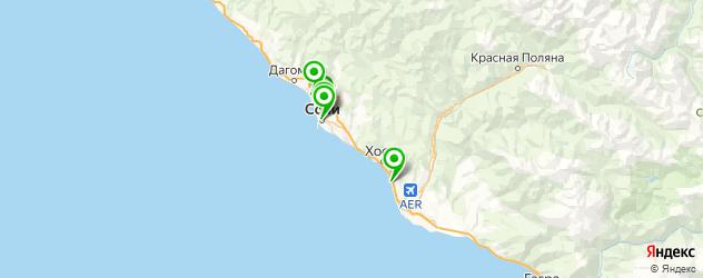 контурная пластика лица на карте Сочи