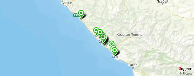 салоны оптики на карте Сочи