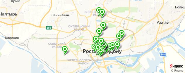 кафе на карте Ростова-на-Дону
