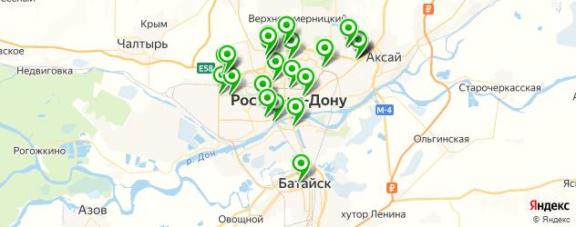 мотосалоны на карте Ростова-на-Дону