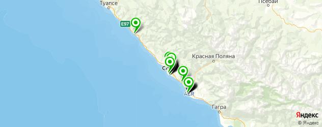 солярий на карте Сочи