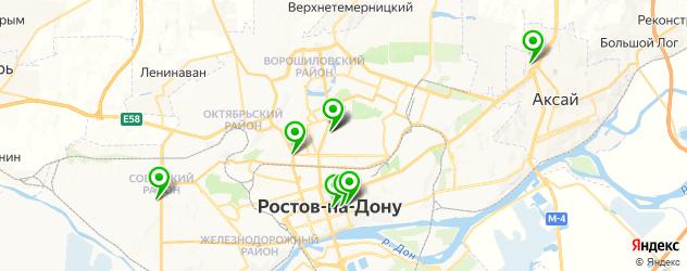фреши-бары на карте Ростова-на-Дону