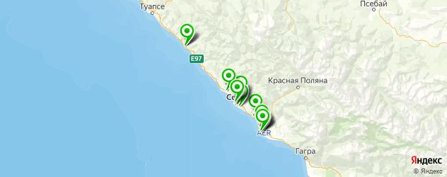 сервисные центры на карте Сочи