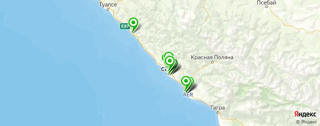 эвакуаторы на карте Сочи