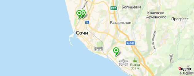 офтальмологические клиники на карте Сочи