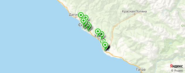 пирсинг носа на карте Сочи