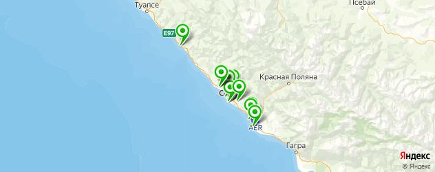 караоке на карте Сочи