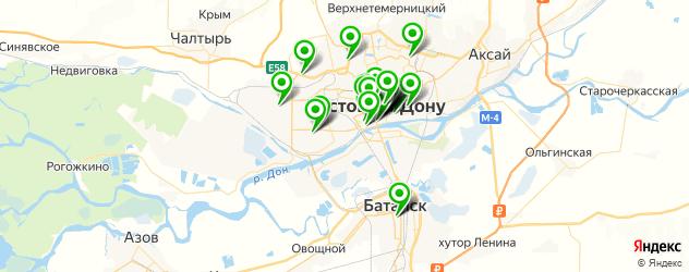 кальян на карте Ростова-на-Дону