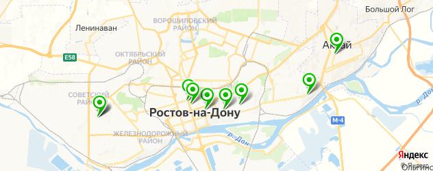 детские больницы на карте Ростова-на-Дону