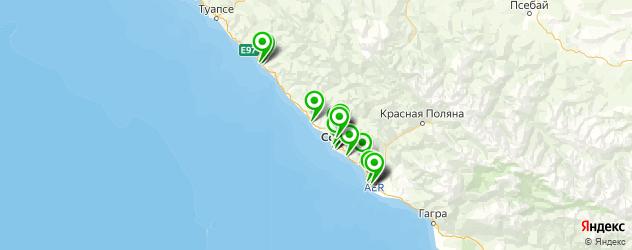 автошколы на карте Сочи
