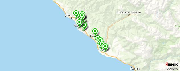 автосервисы на карте Сочи