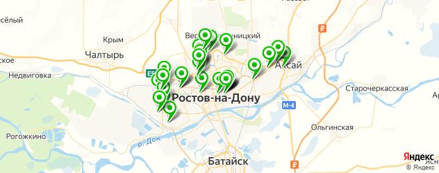 автосервисы на карте Ростова-на-Дону