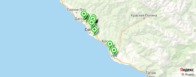 автосалоны на карте Сочи