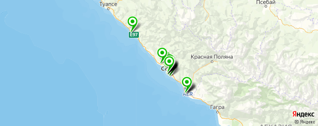 спортивные школы на карте Сочи