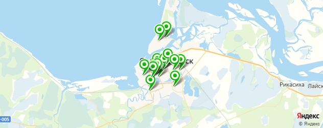Доставка роллов на карте Северодвинска