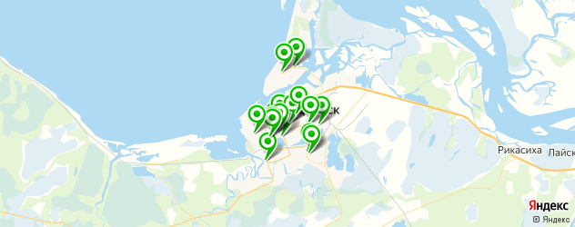 Доставка суши на карте Северодвинска