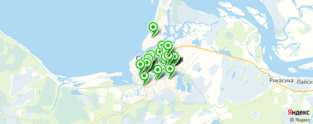 Развлечения на карте Северодвинска
