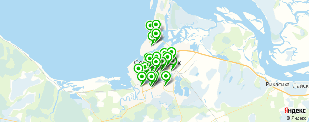 кондитерские на карте Северодвинска