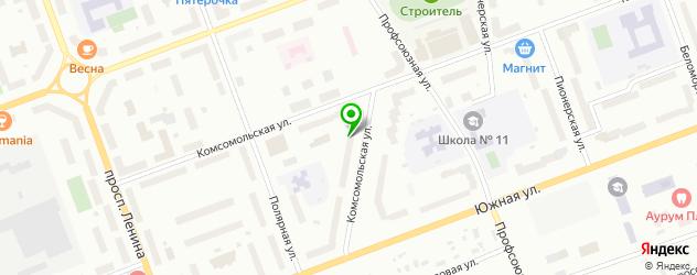 детские поликлиники на карте Северодвинска