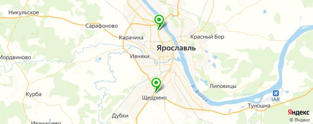 парковки на карте Ярославля