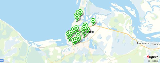 автостоянки на карте Северодвинска