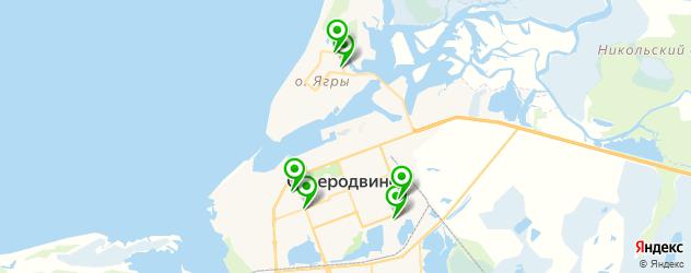 детские стоматологические поликлиники на карте Северодвинска