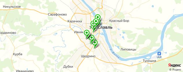 колледжи на карте Ярославля