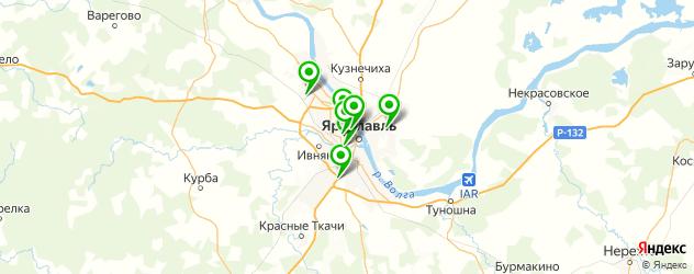 изготовления ключей на карте Ярославля