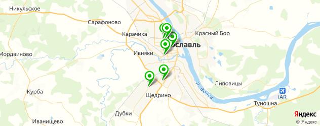 гаражи на карте Ярославля