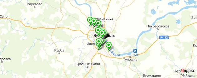 где купить косметику на карте Ярославля