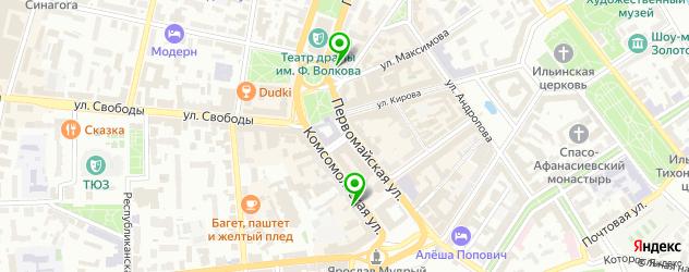 санатории на карте Ярославля