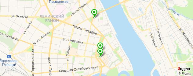 антикафе на карте Ярославля