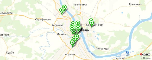 салоны красоты на карте Ярославля