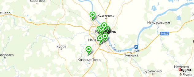 вегетарианские рестораны на карте Ярославля